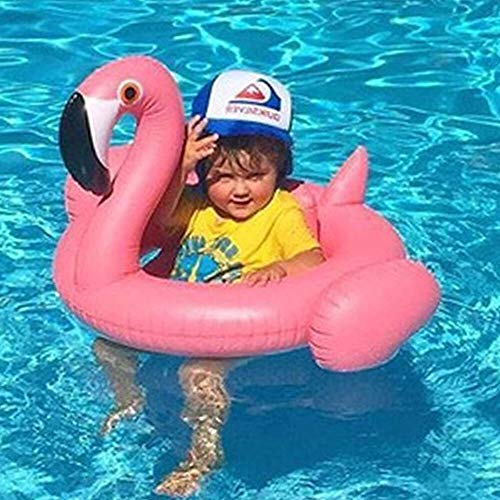 Anillo de natación para playa, inflable, flamenco, piscina, círculo, colchón de cisne, anillo de natación, asiento para barco, balsa de verano, agua y juguetes para niños (color: rosa)