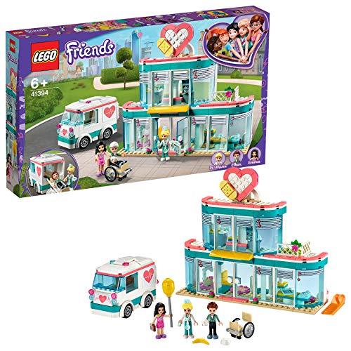 LEGO Friends - Hospital de Heartlake City, Juguete de Construcción, Incluye Muñeca de Emma, la Doctora Maria y Ethan, a Partir de 6 Años (41394)