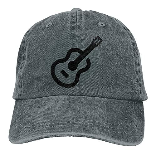 Bokueay Guitarras Moda para Adultos Gorra Deportiva Ajustable Casquette Gorra de Mezclilla Lavada Mujer 's