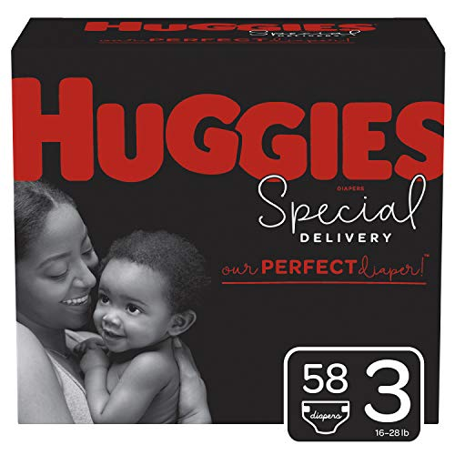 HUGGIES Special Delivery Hypoallergenic Baby Diapers, Size 3, White, No Flavor, 58 Count