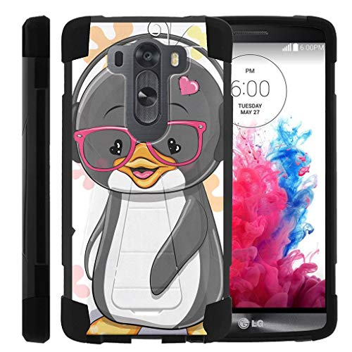 TurtleArmor   Compatible with LG V10 Case   LG G4 Pro Case [Dynamic Shell] Hybrid Duo Cover Impact Absorber Shock Silicone Combo Hard Shell Kickstand Animal - Cute Penguin