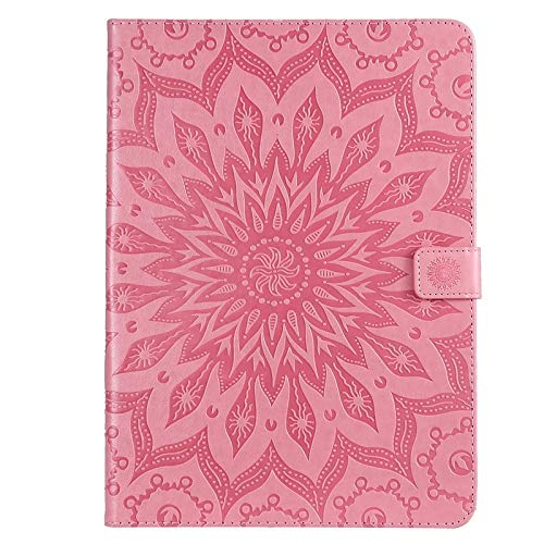 GROSSARTIG For IPad Pro 11 Inch 2018 Business Horizontal Flip Waterproof Embossing Sunflower Pattern Premium Leather Protective Case Leather Hard Back Protective Stand Cover (Color : Pink)