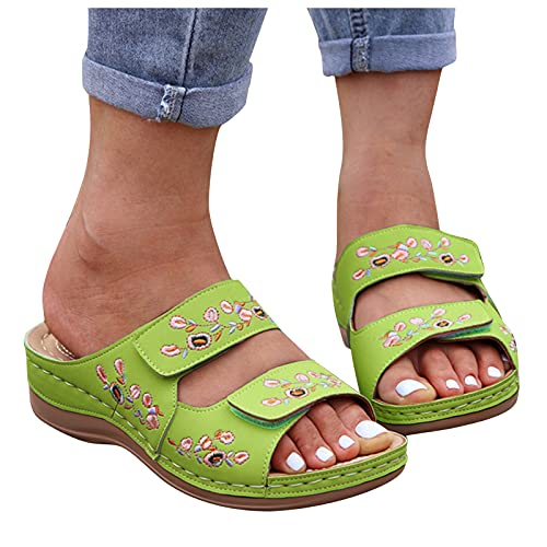 YHIIen Damen Clogs Slippers Schuhe Bequeme Orthopädische Pantolette Hausschuhe rutschfest Orthopädische Sandalen Slingback Open Toe Schuhe Antibakteriell Sandalette
