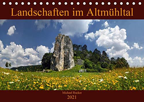 Landschaften im Altmühltal (Tischkalender 2021 DIN A5 quer): Aus dem Naturpark Altmühltal (Monatskalender, 14 Seiten )
