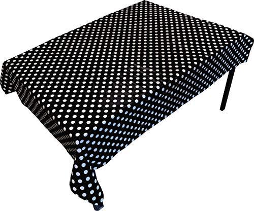 Springbord PVC Tafel- en vloerbedekking - Zwarte vlek (Rechthoekig) - 1,4 x 1,7 m - Geschikt voor kunst, ambacht en rommelig spelen