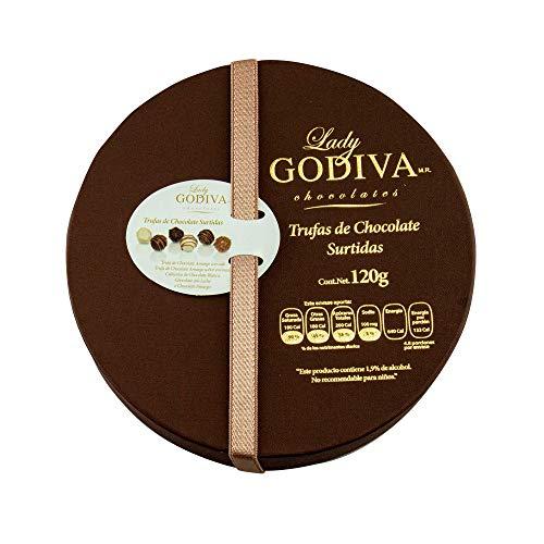 Trufas de Chocolate Surtidas, Presentación Estuche Redondo 120 Gramos.