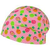 maximo Exotic Fruits Beanie Kindermütze Kinderbeanie Sommermütze Baumwollmütze Mütze (47 cm - pink)