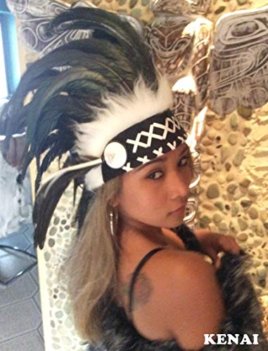 Kenai Federhaube, Indianer Haube, War Bonnet, Indian Headdress, Coiffe indienne, Little Big Horn