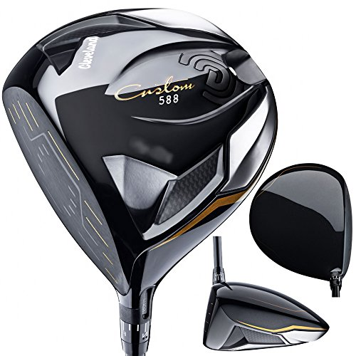 Cleveland Golf Men's 588 Custom Driver, Left Hand, Graphite, Stiff, 9.0-Degree, Black, 45.5-Inch