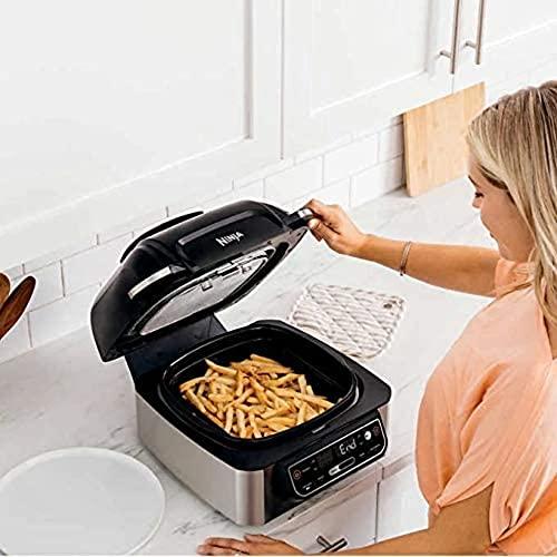 Ninja Foodi LG450 5-in-1, 4-qt. Air Fryer, Roast, Bake, Dehydrate Indoor Electric Grill (Renewed)