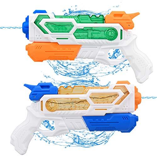 Balnore Pistola de agua de juguete para niños, 2 unidades de 400...