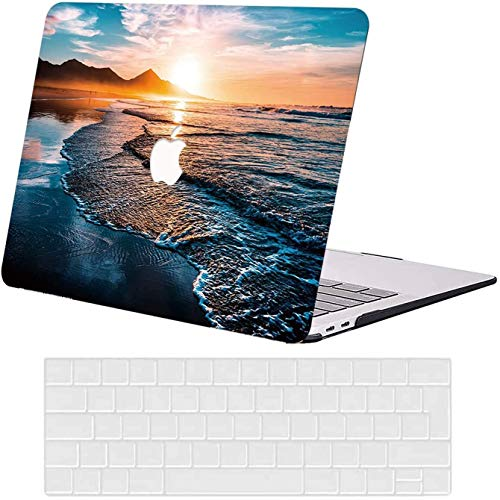 AUSMIX Laptop Case MacBook Pro 13 Case 2020-2016 Release M1 A2338/A2289/A2251/A2159/A1706/1708/A1989, Plastice Hard Shell Protective Case and Keyboard Cover for 2020 Mac Pro 13.3 inch, Beach
