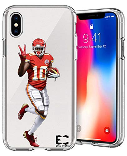 iPhone6/6S iPhone 7/iPhone 8 Case Epic Cases Ultra Slim Crystal Clear Football Series Soft Transparent TPU Case Cover Apple (iPhone 6/6s) (iPhone 7) (iPhone 8) (Tyreek Peace, iPhone 6/7/8)