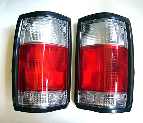 MotorStorex - Tail light LH & RH Rear Combination Light for Mazda B Series B2000 B2200 B2600 Magnum Pickup Truck Taillight - Red-Clear -
