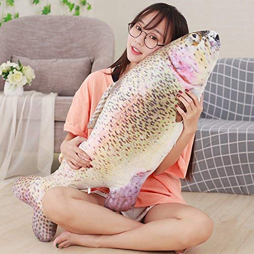 meilishop Plush Toys Cute Simulation Fish Plush Toy Stuffed Animal Trout Weever Toys Dolls Kids Children Funny Soft Pillow Party Gifts