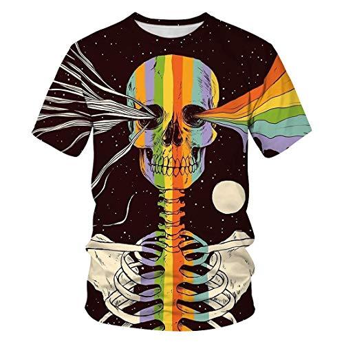 Unisex Stylish 3D Printed Graphic Short Sleeve T-Shirts for Women Men Style 006 XXL