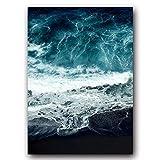 JXMK Sencillo Resumen Surf y Frases Lienzo Pintura Arte Cartel Pared Sala de Estar decoración del Paisaje 40x50 cm sin Marco