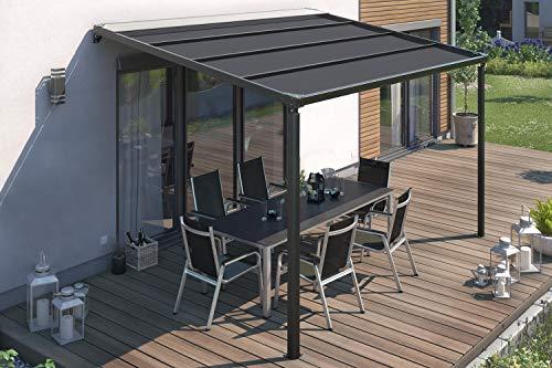 empasa Elektrische Pergola Terrassenüberdachung Terrassendach Überdachung mit LED Beleuchtung in verschiedenen Größen