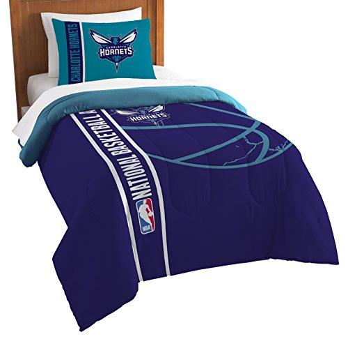 NBA Charlotte Hornets Twin Comforter and Sham Set, Twin