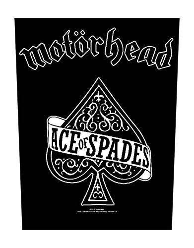 Motorhead Backpatch Ace of Spades offiziell Nue Schwarz Cotton Sew On 36cm x