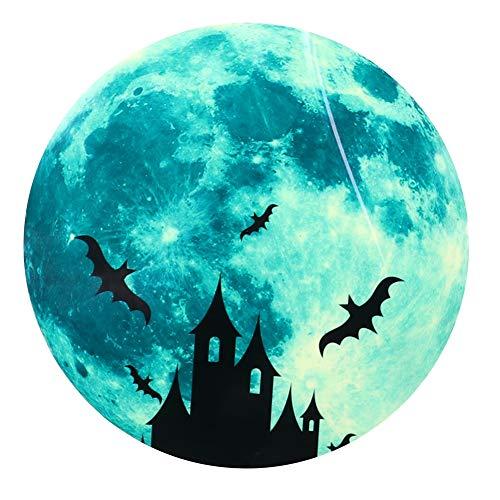 A sixx Adesivos de parede com morcegos 3D, adesivo de parede luminoso com tema de Halloween para decoração de quarto e dia das bruxas