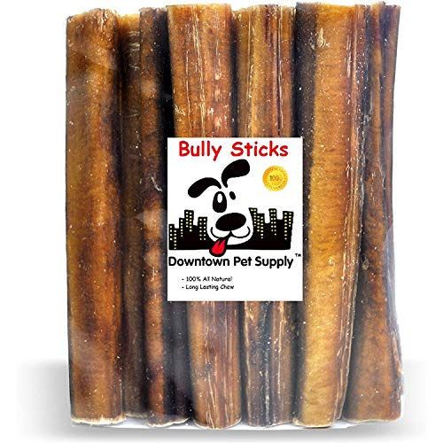 Downtown Pet Supply 6 inch Premium Natural Beef Bully Sticks, Jumbo Extra Thick Dog Dental Chew Treats - No Grain, High in Protein, Low in Fat (5...