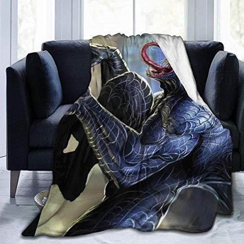 GOSMAO Batamanta Polar Suave y Acogedor Manta de Forro Polar a Cuadros de Cama y Sofa Dibujos Animados 127X102 cm