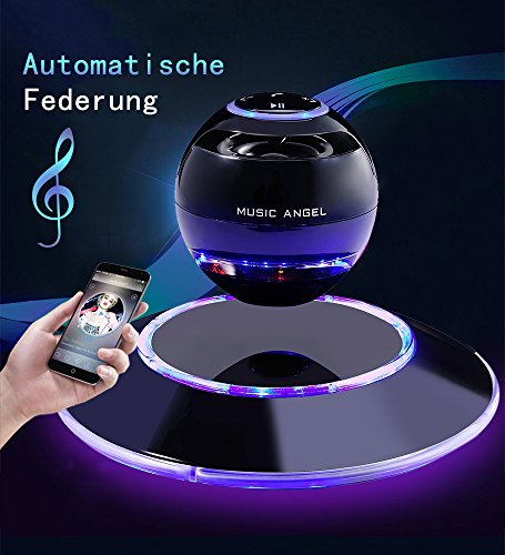Preisvergleich Produktbild Schwebender Lautsprecher Freischwebender Lautsprecher mit Bluetooth 4.0 Multifarben LED 360 Grad Rotierende Soundeffekt