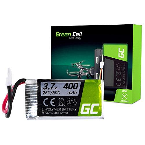 Green Cell® Batteria per Drone Quadrocopter Syma X5SC-1 (Li-Polymer, 400 mAh, 3.7V, JST-xh Connettore)