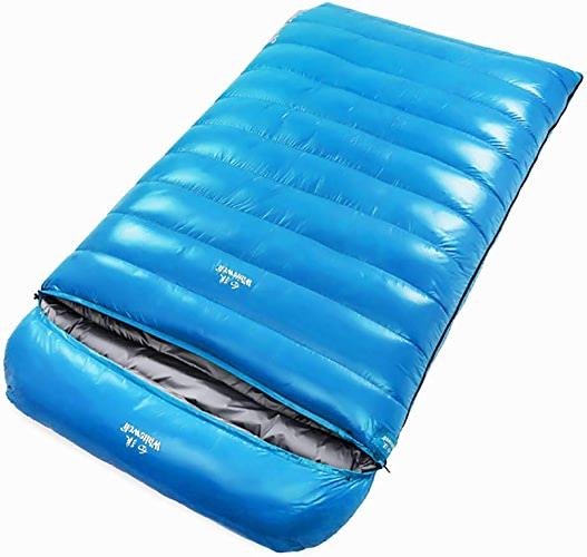 CX ECO Down Sac de Couchage Momie Sacs de Couchage Ultralight Portable Camping Sac de Couchage 2000 Remplissez Puissance Usage Intérieur & Extérieur pour Adulte,bleu