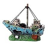 LHKJ Adorno para el Tanque de Peces Adornos De Acuario para Embarcaciones Piratas Adornos para Acuarios Decoración de Embarcaciones, Tanque de QuíMicos No TóXicos