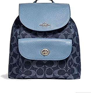 Coach F25893 Mini Billie Backpack bag signature Denim Blue
