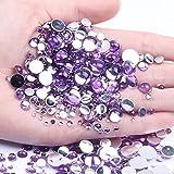 6 mm 100/500 Uds cuentas medio redondas muchos colores uñas artísticas Flatback acrílico diamantes de imitación DIY artesanía mochila accesorios de ropa-07LightPurple 500 Uds