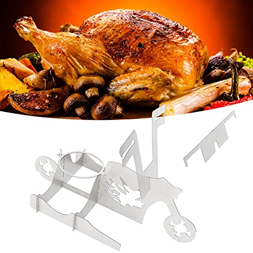 Sxhlseller Chicken Stand for Whole Chicken Roaster Stainless Steel Grill Beer Can Holder Easy to Use and Beer Can Stand