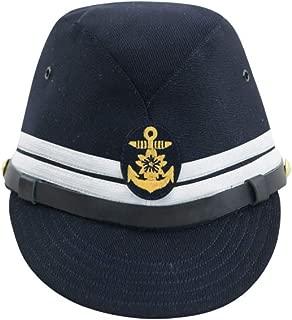 WWII Japanese IJN Navy First Type Officer Field Cap Gabardine Blue