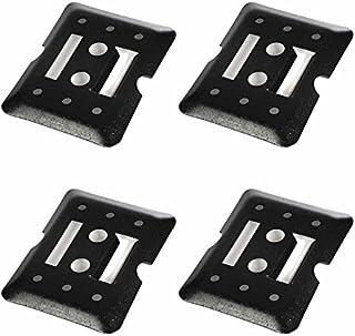4 E-Track Tie Down Mini Trailer Plates 6 x 5 2 Etrack Slots. Heavy Duty Black Steel Bolt-on Etracks Cargo Tie-Downs w/ 2 E...