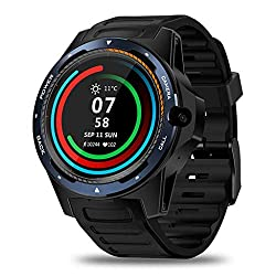 4g android watch phone at low price under $200. - Zeblaze Thor 5 Android 4G Smart Watch, Dual Systems Men's and Women Fitness Tracker Smartwatch 2G RAM+16G ROM Display 8MP Front Camera GPS WiFi Heart Rate Monitor Sport Smartwatch(Blue)