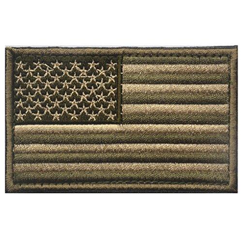 Luckiests 8 * 5cm Bordado Bandera Americana Capítulo
