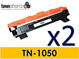TN1050 2X Tóner para impresoraTONER Brother HL1210W (Tóner no Original). 2xBrother Compatible. Enviado Desde Madrid.