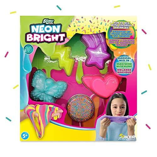 Slimy Super Set Neon Bright - Original Slimy Spielspaß in knalligen Neon-Farben mit bunten Streuseln zum Einkneten und Mischen!