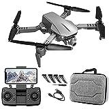 Drone con cámara 4k para niños de 8 a 12 años para Adultos Drone Plegable con Foto 1080p Video Follow Me 50x Zoom Auto Return Home Control de detección de Gravedad Reconocer automáticamente Drone