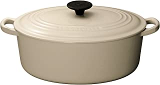 Le Creuset - Cocotte ovalada de cerámica, diámetro de 27 cm, color beige