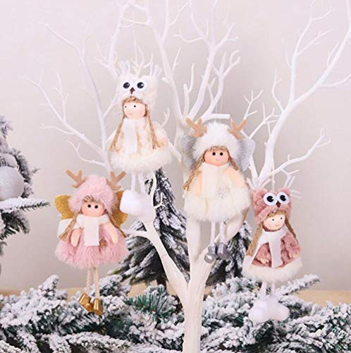 Christmas Angels Decor,4 Pack Cute Christmas Tree Hanging Ornaments (4 Pack-A)