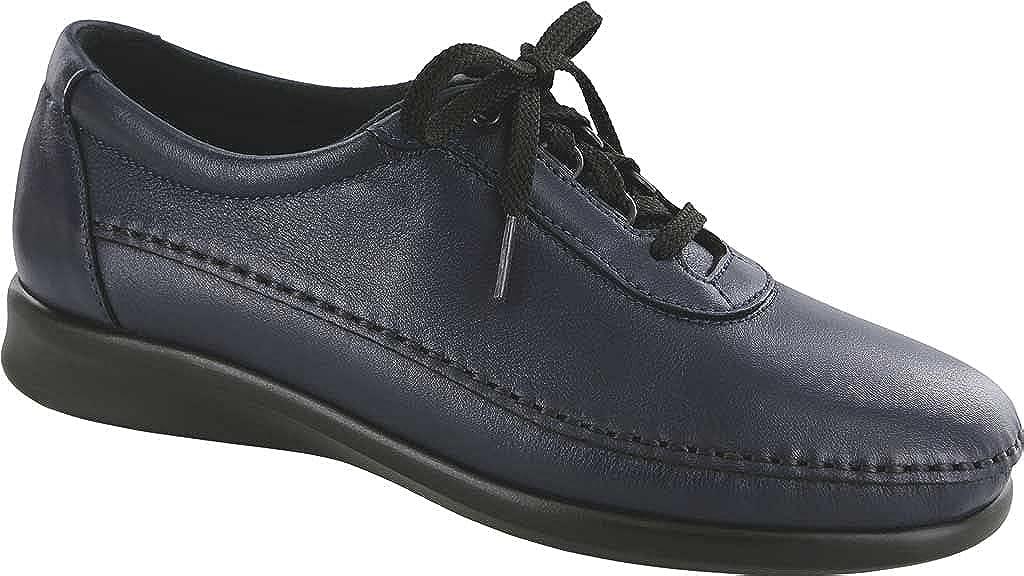 SAS Women's Traveler Walking Shoe Navy Leather 6 M