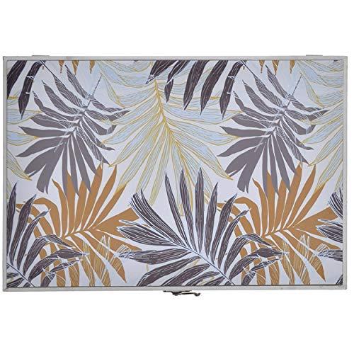 Tapa Contador de Luz Decorativo, Diseño Tropical, Hojas y Colores Tropicales 46x32x6 cm - Hogar y Más - A