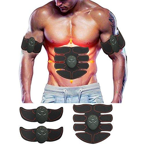 Meiqils Elettrostimolatore Muscolare Trainer ABS Addominale Fitness Attrezzature Regalo di Natale per Uomini e Donne
