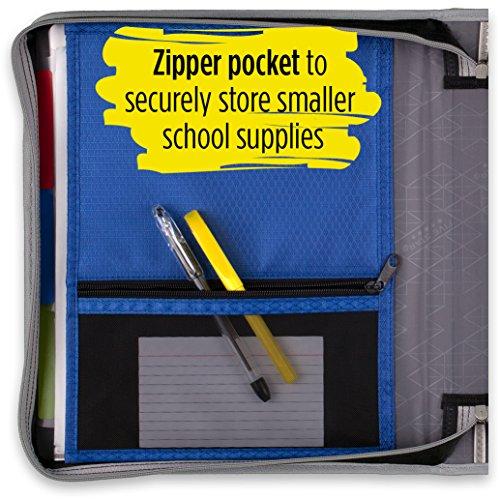 Five Star Zipper Binder, 2 Inch 3 Ring Binder, Removable File Folders, Durable, Blue (73285) Photo #5