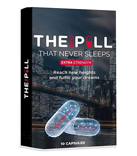 The Red Pill That Never Sleeps, Fast Acting Amplifier for Strength, Performance, Energy, and Endurance, Extra Strength 10 Capsules