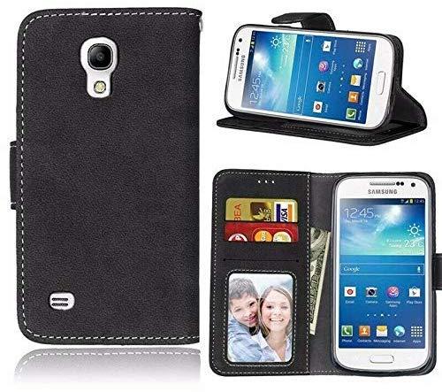 Fonejacket para Samsung Galaxy Young 2 G130 Funda para Teléfono, Funda, Cartera, Ranuras, Cuero Artificial / Gel – Negro