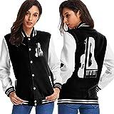BYYKK Chaquetas Ropa Deportiva Abrigos, Piano and Violin Women's Long Sleeve Baseball Jacket Baseball Jacket Uniform